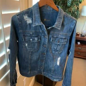 Kut from the Kluth distressed denim jacket